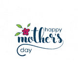 Happy Mother`s Day handwritten lettering Royalty Free Stock Photo