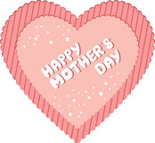 Happy Mother's Day Heart Stock Images