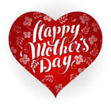 Happy Mother's Day Heart Royalty Free Stock Image