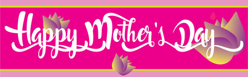 Happy Mother`s Day holiday banner Royalty Free Stock Images