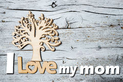 Happy Mother`s Day, I love my mom Royalty Free Stock Image