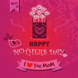 Happy Mother's Day - I love you MOM Royalty Free Stock Image