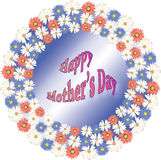 Happy Mother's Day Illustration Royalty Free Stock Photo