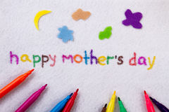 Happy Mother`s Day inscription. royalty free stock image