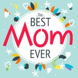 Happy mother`s day layout greeting card design. Frame lettering Royalty Free Stock Images