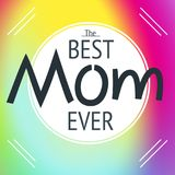 Happy mother`s day layout greeting card design. Frame lettering Stock Images