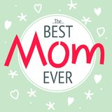 Happy mother`s day layout greeting card design. Frame lettering Royalty Free Stock Photography