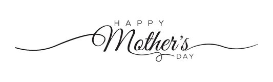 Free HAPPY MOTHER`S DAY Lettering Calligraphy Banner Vector Royalty Free Stock Photography - 181004537