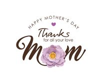 Happy Mother`s Day greeting design Royalty Free Stock Photography