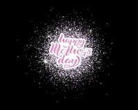 Happy Mothers Day lettering stock illustration