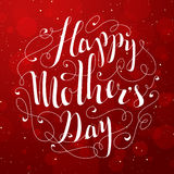 Happy Mother's Day lettering. Royalty Free Stock Image