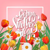 Happy Mother's Day lettering. Royalty Free Stock Images