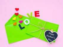 Happy Mother`s day love letter concept. royalty free stock photo