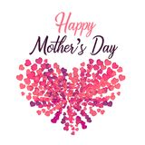 Happy Mother`s Day lovely. Happy Mother`s Day Illustration - Lovely Design Royalty Free Stock Photos