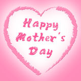 Happy Mother's Day Means Ma Celebrate And Parties Stock Photography