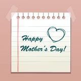 Happy Mother's Day message Royalty Free Stock Photos