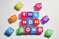 Happy Mother's Day - The Mom Bomb Royalty Free Stock Photography