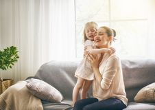 Mother and daughter playing Royalty Free Stock Images