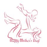 Happy Mother`s Day. Motherhood and Childhood. Royalty Free Stock Image
