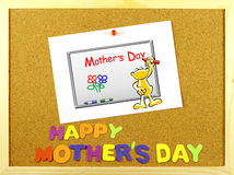 Happy Mother´s Day phrase on a corkboard Stock Image