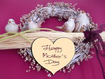 Happy Mother's Day picture image illustration birds decoration Royalty Free Stock Photography