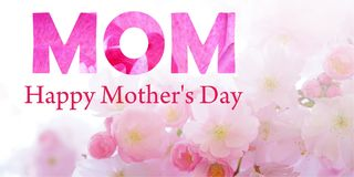 Happy Mother`s Day. Pink background Royalty Free Stock Image
