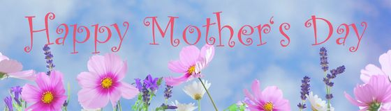 Happy Mother`s Day. Pink background Royalty Free Stock Photography
