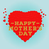 Happy Mother's day postcard with a blue background. Celebration greeting card design template. Happy Mother's day postcard with a blue background. Celebration Royalty Free Stock Photo