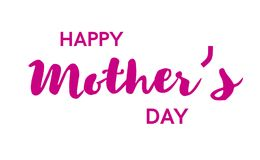 Happy mother s day poster or banner. Isolated on white background. Vector illusrtation Royalty Free Stock Photography