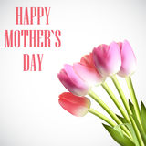 Happy Mother`s Day Poster Card Vector Illustration Royalty Free Stock Photos