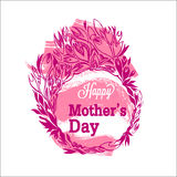 Happy Mother`s Day poster.  Flowers and text. Stock Photography