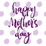 Happy mother's day purple greeting card. Stock Image