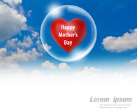 Happy mother's day red heart floating of  in a bubble Stock Photography