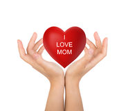 Happy mother's day Red heart Royalty Free Stock Images