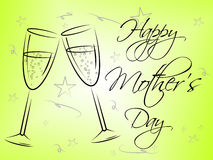 Happy Mother's Day Represents Mummy Mum And Joy Stock Photo