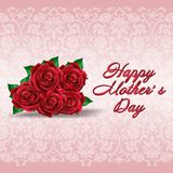 Happy mother's day, rose design Stock Photos