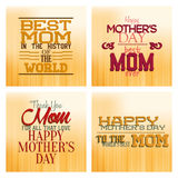 Happy mother's day. Set of backgrounds with text for mother's day. Vector illustration Royalty Free Stock Image