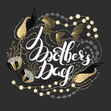 Happy Mother`s day. Spring holiday. Congratulatory background with lettering in flowers. Floral design. It can be used for card, postcard, invitation, banner Royalty Free Stock Photo