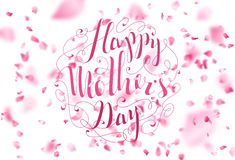 Happy Mother's Day. Spring Typographical Background. Stock Photos