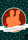 Happy Mother`s Day  Stock Illustration Stock Photo