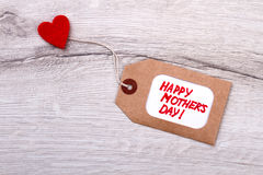 Happy Mother`s Day tag. Stock Photography