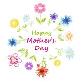 Happy Mother's day text Royalty Free Stock Photography