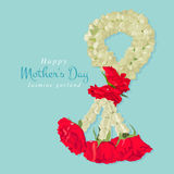 Happy mother's day, Thai traditional jasmine garland. Stock Images