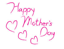 Happy Mother's Day Type royalty free illustration