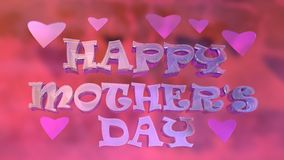 Happy Mother's Day Typography Logo Design Stock Images