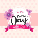 Happy mother s day. Vector.Can be used to design postcards. Stock Image