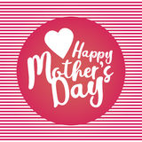Happy mother s day. Vector.Can be used to design postcards. Stock Photography