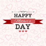 Happy Mother's Day vector greeting card Stock Photos