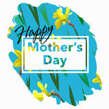 Happy Mother's Day vector illustration. Greeting card Royalty Free Stock Photos