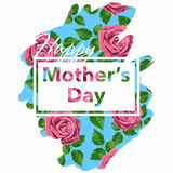Happy Mother's Day vector illustration. Greeting card Stock Images